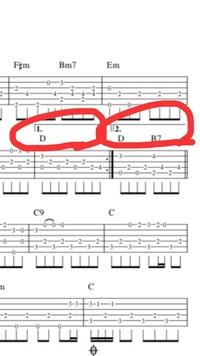 ギターの楽譜の読み方についての質問です。 当方ギターを始めたばかりで、楽譜の記号を読むことが出来ず、有識者の方にお助け頂きたいです。 画像 赤丸の1.2のような記号が有りますが、これは どのような意味を...