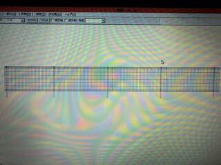 JW-CAD,平面図,アイソメ図,フェンス立面図,透視図,フェンス,縦方向