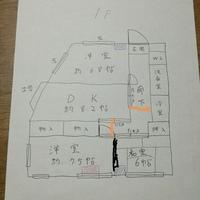 図の玄関横の洋室にエアコンを取り付けようと思います(赤い部分) 現在は下の洋室にしか設置されてません(青い部分、6畳用) その他、設置出来るのは和室です。 DKに設置穴がないため、玄 関横の洋室の戸を開放し、廊下を通り、DKの引き戸からDKへと風を送りたいと思います。 オレンジの線は、天井から突っ張り棒をかけて暖簾を垂らし、冷房暖房効果をアップすることを考えてるものです。 この場合...