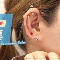 この耳のボコっとした部分てどうなってるんでしょうか?ピアスショップの広告写真なのですが・・・何かを埋め込んでるんですかね?