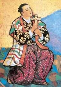 大喜利です。この絵にセリフを入れてください。絵は、キリシタン大名として有名だった高山右近さん。