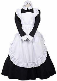 スカートがロング丈(スネくらい)メイド服を買いたいのですが、格安で買えるサイトってありますか? このような感じのが欲しいです