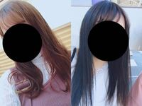 美容師さんにラベンダーカラーにしたいと言って画像も見せて染めてもらったのですが、明らかにブルーブラックです。紫しか使ってないと言っていましたが青と紫間違えてないですか?ブリーチなしで染めたのですが...