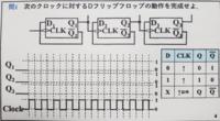 dフリップフロップ回路の解き方を教えて下さい。