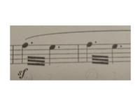 吹奏楽部でアルトサックス1を担当している者です。 「僕らのインベンション」という曲なのですが、このファとミの間の棒って何ですか? どう演奏したら良いのかわからなくて… 出来るだけ早め に教えていただき...