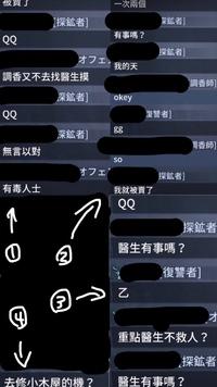 第五人格の対戦後のチャットです。 どなたか翻訳してくださいませんか。 よろしくお願いします。m(._.)m 分かりづらくてすみません。  ーーーーーーーーーーーーーーーーー  ↓↓↓(意味が わからなかったら...