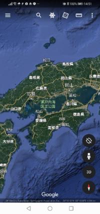 私、今は東京ですが、出身は広島で、こうして見れば、瀬戸内海をかこむ、広島をふくんだ、岡山、香川、愛媛、の4県、もしもの地震の津波とかの場合を考えると、この4県、かなりズルイ立地条件じゃないですか ··· ...
