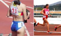 女子陸上で着用されるユニフォームは、短距離走では肌の露出が多いビキニのようなもので、一方、マラソン等の長距離走ではそれ(肌の露出)が少ない短パン系のものである場合が多いようですが、 その理由は何でし...