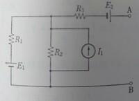 電流源と電圧源の変換について。 画像の真ん中の電流源I1とR2は電圧源に変換できないのですか? また、何故ですか?