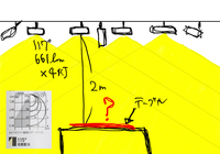自分の部屋の照明が暗すぎるので照明を付け替えようと思っています。シーリングライトではなくダクトレールにオーデリック社の高演色のモデルのスポットライトを付けようと思っています。 テーブルの上の明るさが何ルクスになるのかどうやったら計算ができますでしょうか?300ルクスを目指しています。 お詳しい方ご教授頂けたら大変助かります。  ダクトレール 照明 ライティング ダウンライト ス...