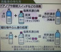 消毒液を新しいものにかえたいと思っています。 次亜塩素酸ナトリウムを購入したいのですが、画像の希釈方法で該当(0.02%や0.1%)の消毒液が作れる濃度の原液(商品)は何がありますか?  小規模園なので一般家庭と...