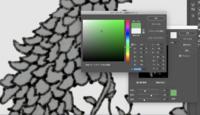 Photoshopの色の置き換え機能がうまくいきません。 写真のグレーの部分を緑色にしたいのですが、カラー情報を読み取ってくれず、置き換えたい色のバーを動かしても白からグレーを行き来するだけです。 モードはR...