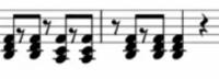 ピアノ初心者です  この記号はなにですか? どんな風に弾いたらいいですか? 黒丸が3つついているやつです