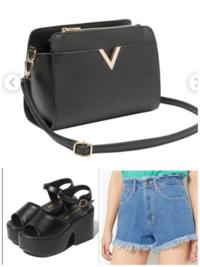 画像と全く同じショートパンツ、ショルダーバッグ、黒の厚底サンダルを持っますがトップスは黒と白どちらがいいと思いますか?