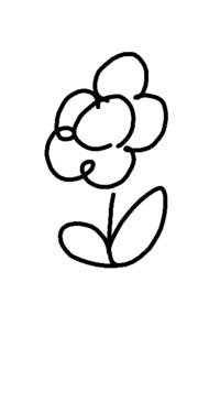 スマホのお絵描きアプリを探しています。 輪郭の塗り潰しができるアプリ、広告非表示で無料のアプリを探しています。 たとえば、下記の画像で花びらは黄色、ひまわりの真ん中は茶色、茎は緑色にしたいです。