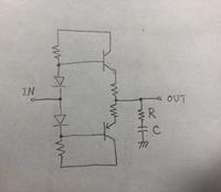 プッシュプル回路(画像参照)のR、Cはどのような役割なのでしょうか?