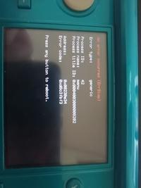 写真のエラーの原因と解決策を教えてください 3DS NTR 改造 チート plugin