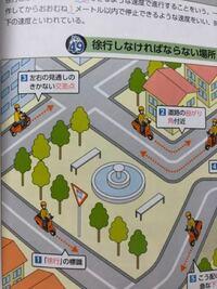 原付の免許の試験問題なんですけど、 徐行しなければならない場所  左上の3 左右の見通しのきかない交差点  見通しのきくところなら徐行はしなくてもいいんですか?