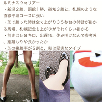 ケイタササグリ有料サイト内にて、会員のdolemafia666から、札幌記念のY将の打倒カポ峯仕様の穴馬情報だそうですが。  画像の馬、マジ?