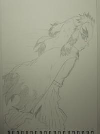 小6です。絵の評価をお願いします!(*´`) 描いたのは「鬼滅の刃」の煉獄杏寿郎さんです。 目はこっちを向いていて走っているイメージです。腕や手は羽織で隠れています(._.)  ・この絵のいい所と悪い所、「もっと...