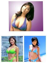 グラビアアイドルの巨乳化 最近のグラビアアイドルの巨乳化って凄いですね。 この写真の彼女達が登場した時は凄い巨乳だと思ったのですが、この位は今や普通にいますよね。どうしてでしょうか ? ①日本人の発育が良くなった ②巨乳の子を優先して選んでいる ③豊胸させている どれだと思いますか?