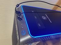 ドスパラのPC、ガレリアの新ケースの青ブチのライトの色の変え方を教えてください。