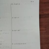高校の因数分解です。答えがなくてわからないので解き方を教えてください。 (6) x⁴ + 5x² −6  (7) 16a⁴−b⁴  (8) 81x⁴ − 16y⁴  (9) (a+b+3)(a+b−2)+4