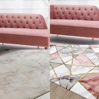 このソファにはどっちのラグが合うと思いますか?