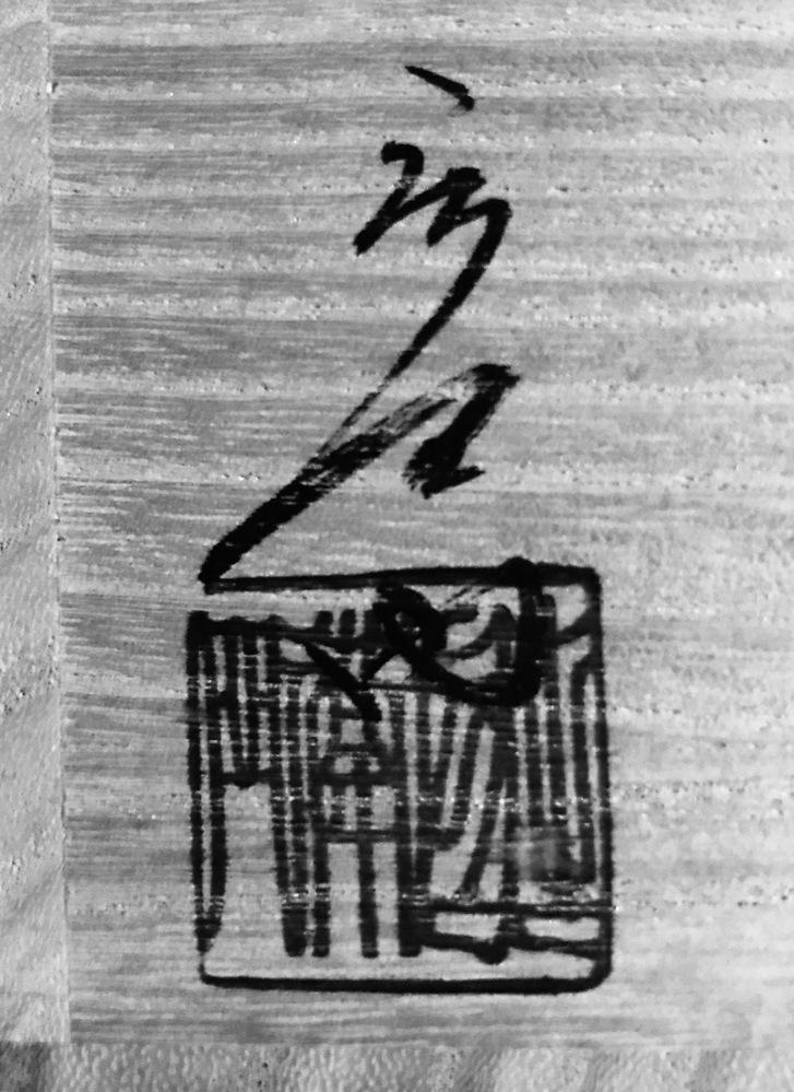 茶道具の茶碗箱書に書かれている漢字がわかりません。誰の作ですか?わかるかた、教え下さい。
