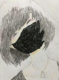 絵の評価お願い致します。 シャーペン、色鉛筆、サインペンで描きました。