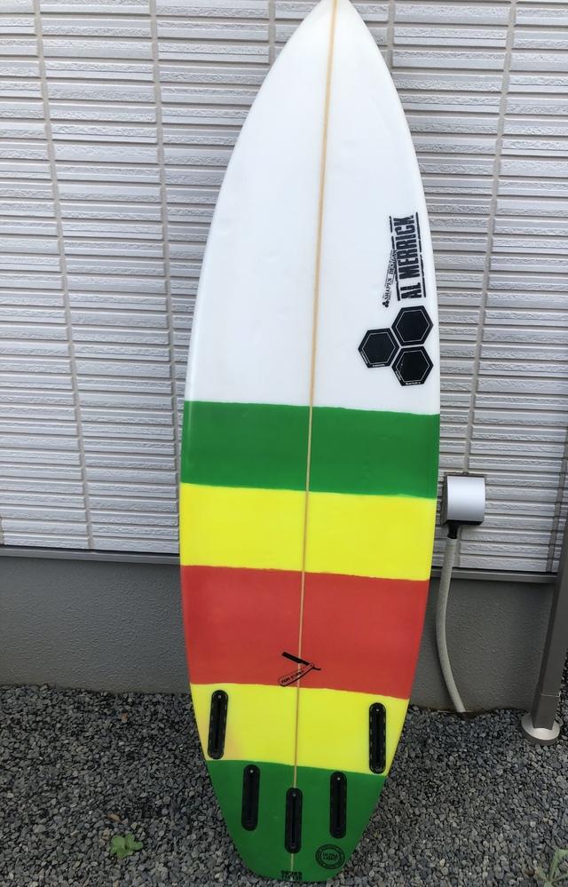 サーフボードのサイズ・スペックの見方について こんにちは。 最近サーフィンを始めた者ですが、この度知り合いからサーフボードを譲ってもらいました。(その知り合いも、友達から譲り受け たとのこと...