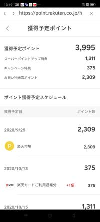 楽天スーパーセールを初めて利用しました。 買い物の合計金額は35000円程。  10店舗で購入。  楽天スーパーセールのエントリーをアプリではなくwebからしました。  今考えるとログインしていない状態でのエント...
