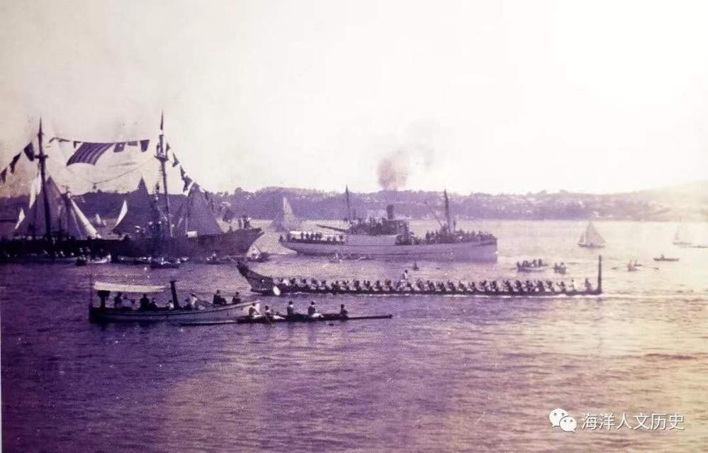 在英国海军内部,帆船运动更为普及,也是皇家海军中国舰队在威海疗养期间的年度必办赛事之一。 同军民皆可参与的鸳鸯锦标赛相比,英国海军的舢板赛自行体系,其后期最重要的比赛是横滨杯争夺赛,据说1923...