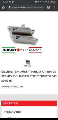 """streetfighter848のテルミニョーニマフラーについての質問です。 テルミニョーニのチタンマフラーを購入しようとしているのですが、どこを探しても""""UPMAP NOT INCLUDE""""と記載されており、 ECU付きがあ..."""