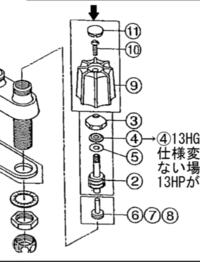 ミニキッチンのカランがちょっとぐらぐらで、薄ら水が漏れています。 どの部品を交換すれば解消されますか? タブチの水栓です。