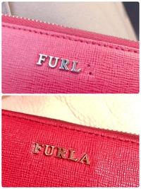 フルラの財布を直営店で修理に出したのですが、文字の位置変じゃないですか?  上が修理に出す前、下が修理後の写真です。 気のせいかもしれませんが「F」の位置も変わったような気がします、、