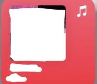 iOS14のアップデート後にホーム画にウィジェット追加出来るようになりましたが、 Apple MUSICのウィジェット(サイズが大きく赤いやつ)の色を他の色に変える方法はありますか?