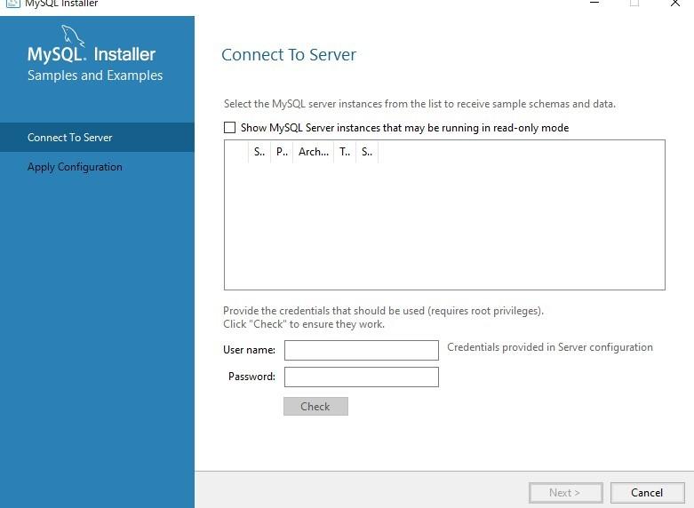 MySQLのインストールについて MySQLをインストールしたいのですが、 Product Configurationのところをnextした後に 警告で No compatible server...
