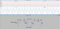 LTspiceについての質問です。 先日、ワイヤレス給電について簡易的なシミュレーションを行いたくて、LTspiceの利用を始めた初心者です。電子回路についても勉強を始めたばかりです。  添付する回路図に対して、送...