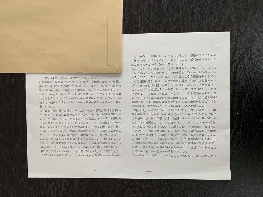 子供が、先生から、読書感想文をCD-ROMに入れてきてと空のCD-ROMとサンプル(画像)を渡され帰って来ました。どうやったらこの書式?が作れますか?