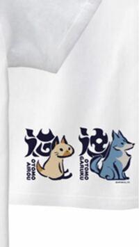 モンスターハンターライズのTシャツについてる文字、左はアイルーの「猫」でしょうが、ガルクの方は何でしょうか?てっきり「犬」と書いてあるのかと思ったらなんか違うし、「狼」ですかね?