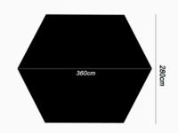このサイズ(添付画像)のタープに使うメインポールの太さはどのくらいの物を選ぶと良いでしょうか?