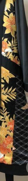 花柄の着物の染め直し、染め替えについて 画像のような花柄の着物の前身頃の花柄の部分だけを黒く染めたいのですがそれは可能でしょうか?染めるとなるとやはり全体を同じ色で染めることしかできませんか?