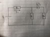 下の回路で電流I1の求め方及び答えを教えてください。お願いします。 R3と直列に接続された電流源は電流制御電流源です。
