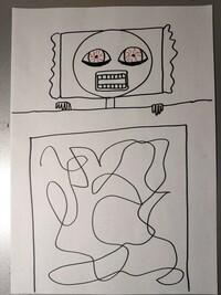 絵を描きました。 評価お願いします。 題名「不眠症」