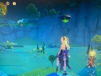 ネタバレ注意です! 原神のゲームで、霊短関の浮いてる真ん中の岩のロックはどうやって外すんですかね?