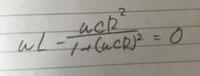 この式はRLCの直並列回路です。この問題では電圧と電流が同相になるためのRの条件を求める問題です。 虚数部を出すとこまでできたんですがそこからRの式に直すことができません。ご教授よろしくお願いします。