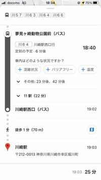 川崎でのバス通勤について質問です この度、就職で川崎に住むことになりました。 住所は幸区小倉です。  そこで今のところ、バス通勤を検討しています。 バス停は夢見ヶ崎動物公園前〜川崎駅間です。  乗車時間帯は7:30〜8:00になります。  この時間帯の画像の系統のバスは相当に混み合いますでしょうか。 また、到着時間にかなりの遅れが見込まれますでしょうか。  場合によってはバス通勤ではなく自転...