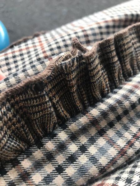 この裾の部分のほつれはどういう縫い方で治りますか?