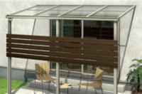 テラス屋根の支柱へのフェンス取付けについて。 庭に4間×6尺のウッドデッキと3間分のテラス屋根を取り付け予定です。予算の関係でフェンスをDIYできないかと思うのですが、外構のDIYは素人なので相談させてくださ...